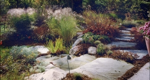Quality Garden Design Near Lake Angeles MI | Landscape Gardens - steps_grasses