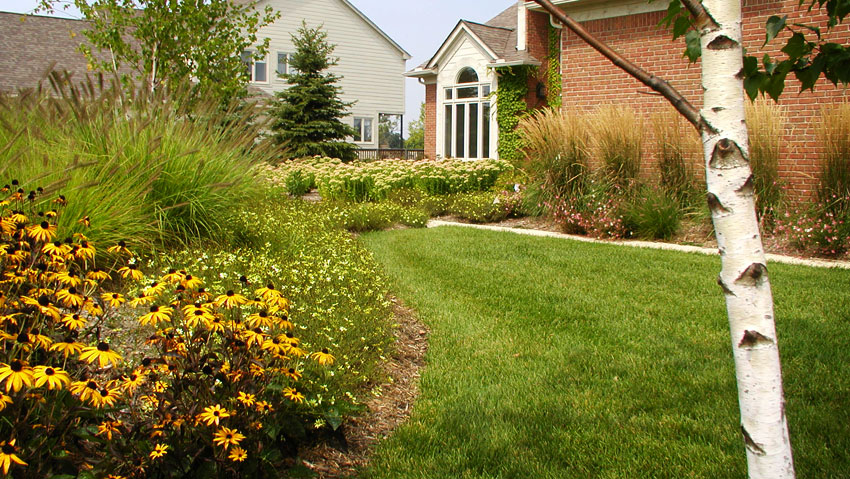 Preferred Landscape Installation Within Bloomfield Township MI | Landscape Gardens - front_yard_grasses